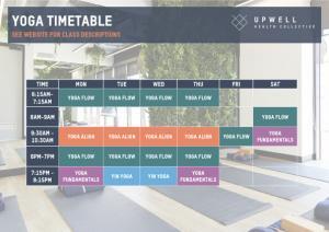 Yoga-Timestable
