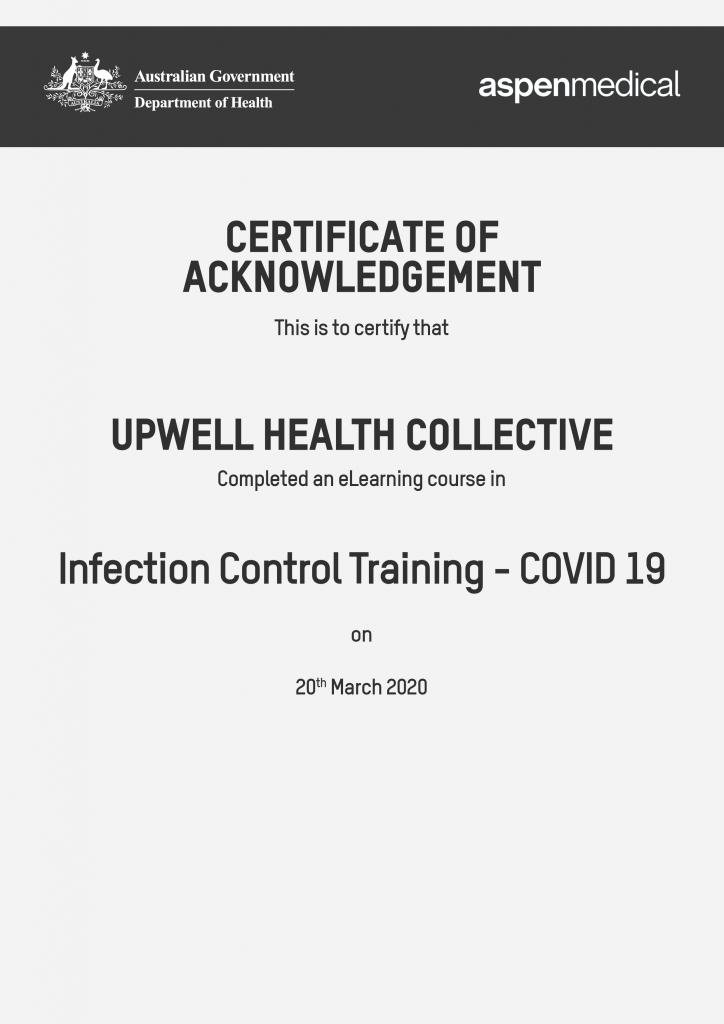 Certificate COVID